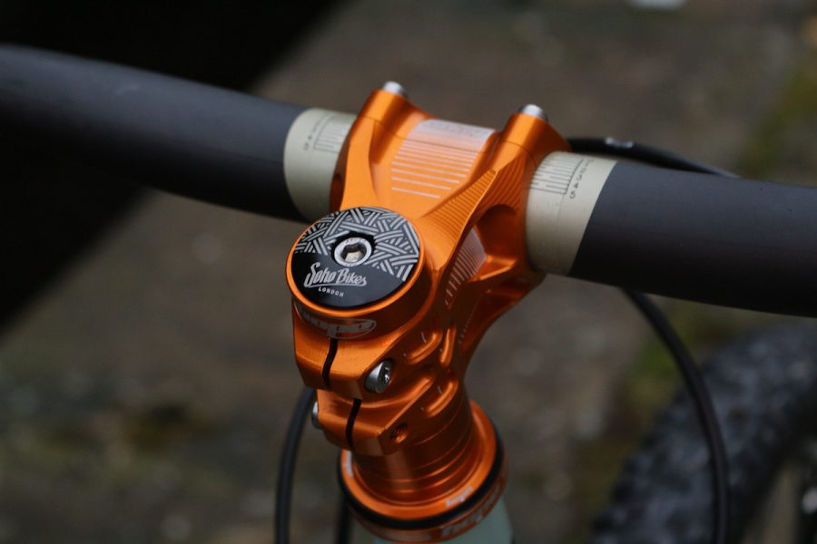 brother cycles big bro off road bikepacking touring hope brake crank pedal cassette orange bling shiny steel brooks