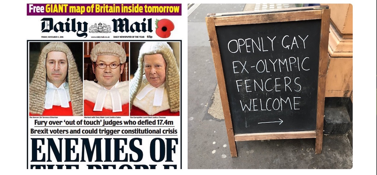 daily mail tabloid newspaper soho bikes gay brexit