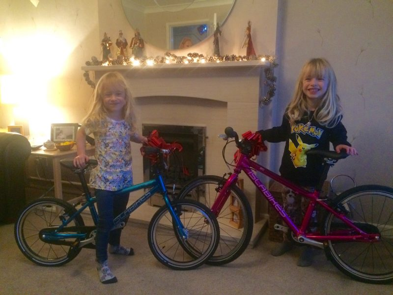 monday morning debrief riding xmas christmas ross kids children isla bikes