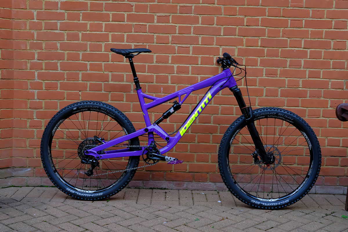 identiti mettle full suspension alloy corebike purple