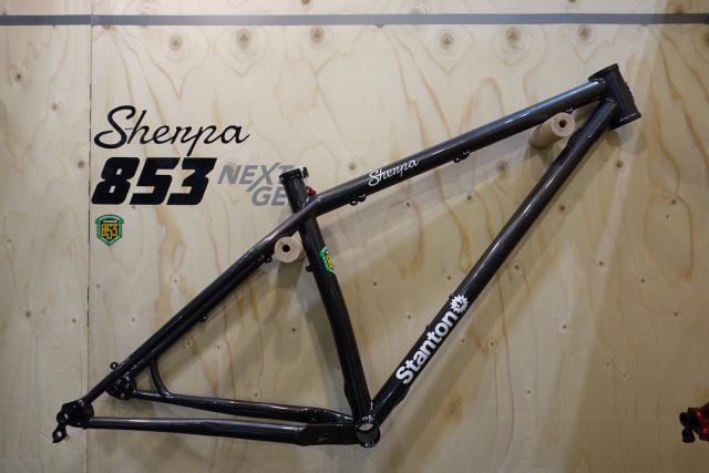 london bike show stanton hardtail reynolds steel 853 titanium sherpa slackline switchback plus 29in 29er frame cactus