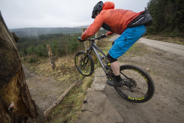 James on our local Forestry Commission trail - Gisburn