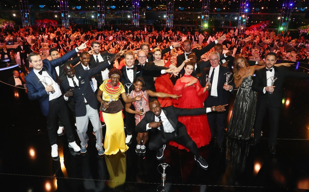 During the 2017 Laureus World Sports Awards at the Salle des Etoiles,Sporting Monte Carlo on February 14, 2017 in Monaco, Monaco.