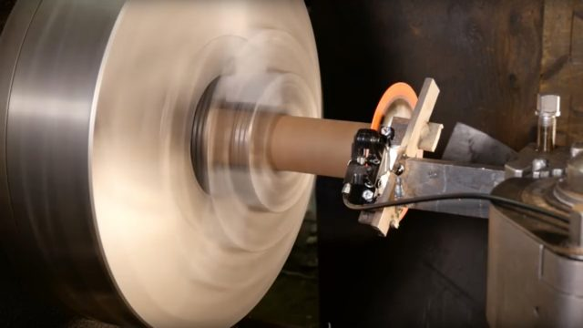 Disc brake on lathe