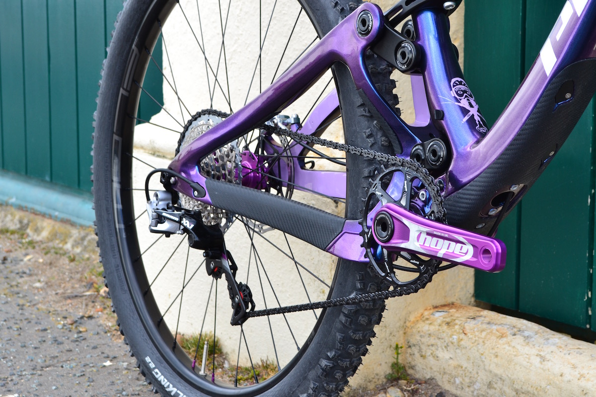 pivot mach 6 carbon custom prestige cycles fatcreations paint purple