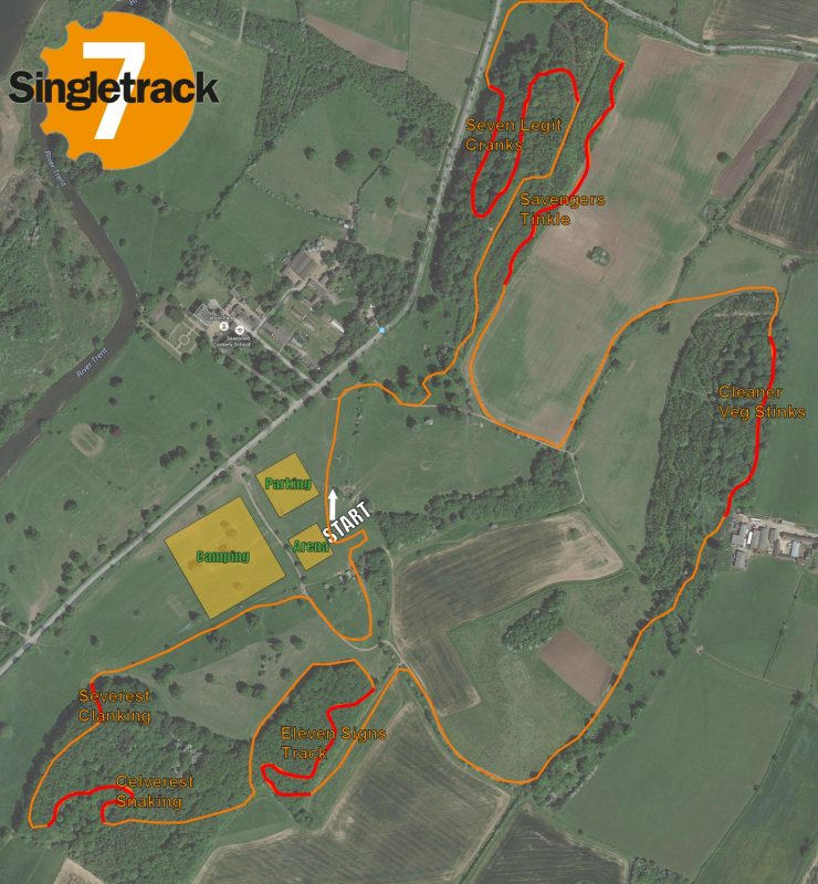 Singletrack7 course map