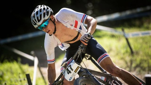 Frazer Clacherty heads for his best ever World Cup placing. Image Credit: British Cycling Website