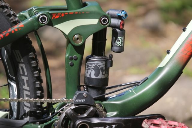 Trunnion mount and Fox Shock.