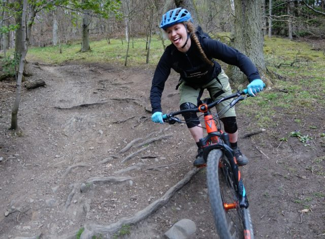 Trails so good you can taste them. Rhian about to finish the Enjoyro course.
