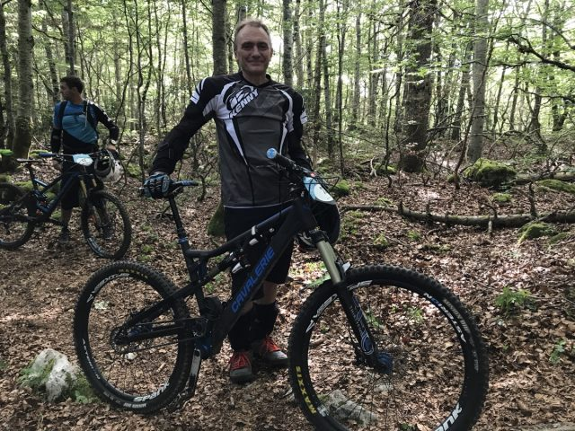 Guy Cavalerie himself - his first time at the Enduro Jura By Julbo.