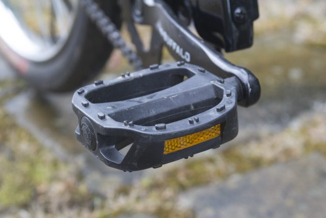 Composite pedals have replaced older metal ones in response to mechanic's feedback.