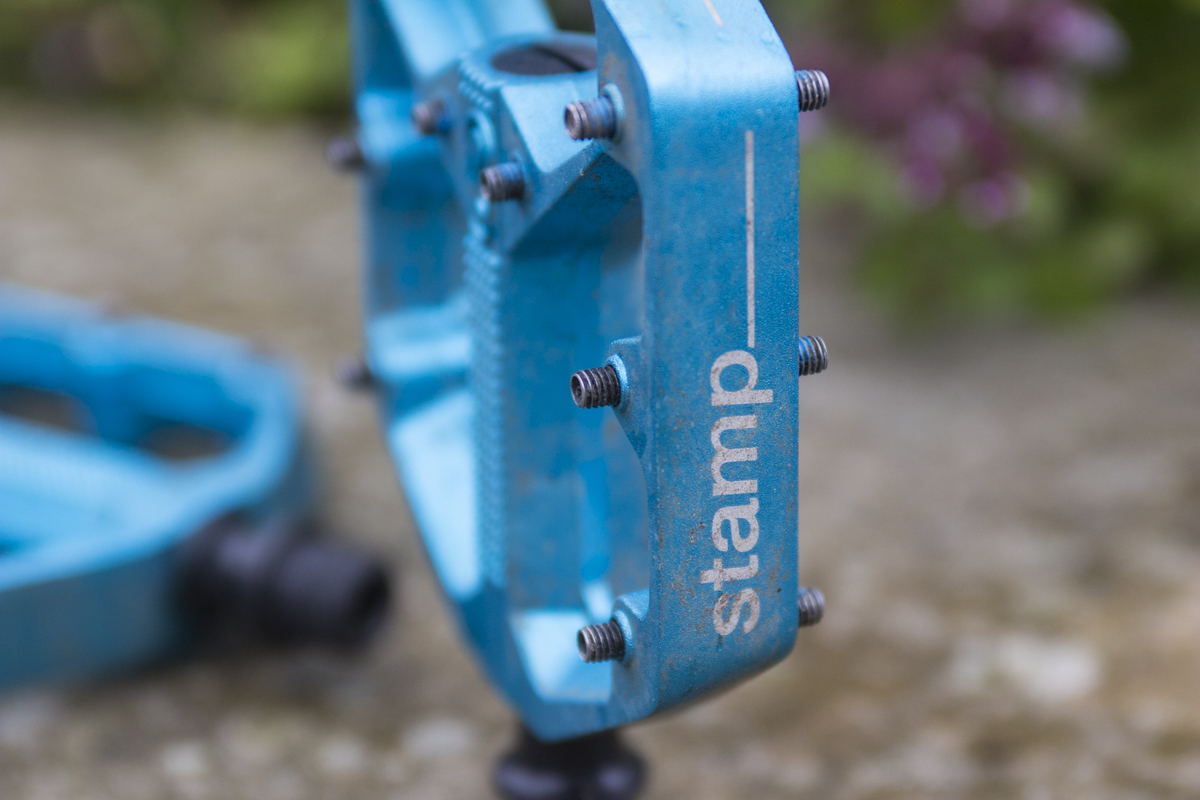 Crank Brothers Stamp Flat Pedals Different Height Pins Are Available For Increasing Grip Further