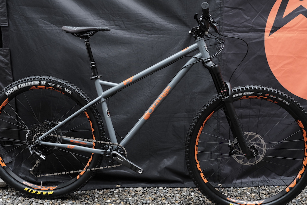 854fe41f427 The Orange P7 steel hardtail has been thoroughly updated for 2018.