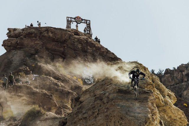 Kurt Sorge competes at Red Bull Rampage in Virgin, Utah on October 27th, 2017