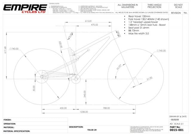 empire cycles tx130 geometry