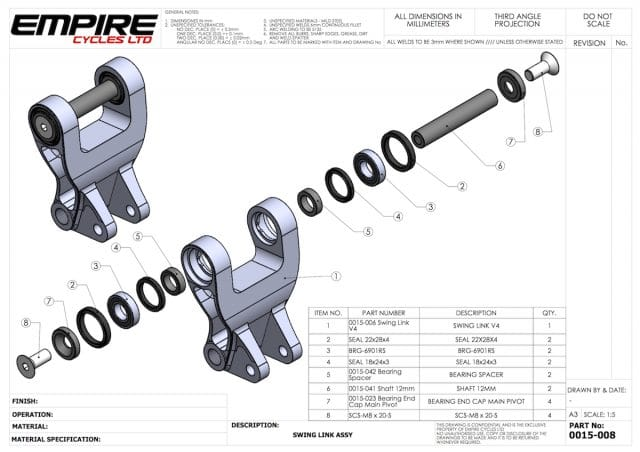 pivot bearing assembly technical drawing empire cycles