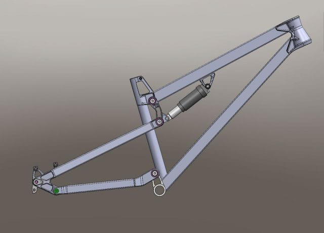 empire cycles tx130 cad rendering design uk made