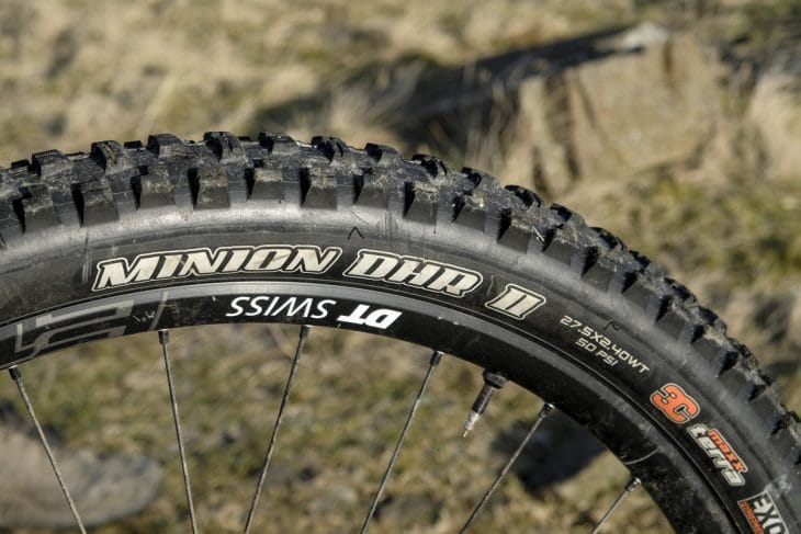 dt swiss maxxis minion dhr II tyres