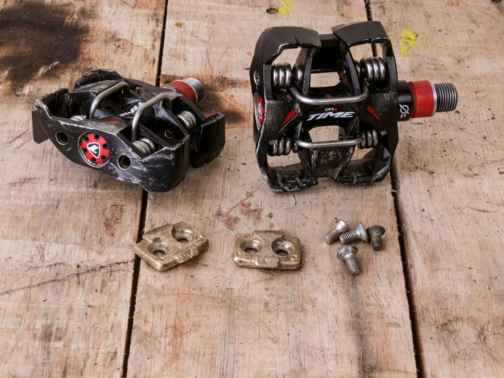 time atach dh4 pedals clip-in cleats