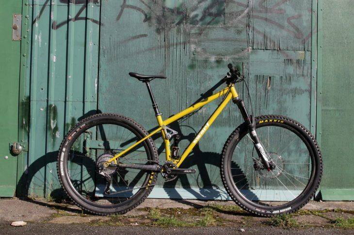 swarf prototype steel full suspension bike mustard cane creek dbairil