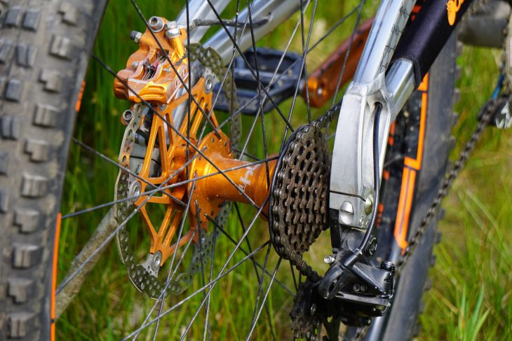 orange 329 downhill bike hope cassette