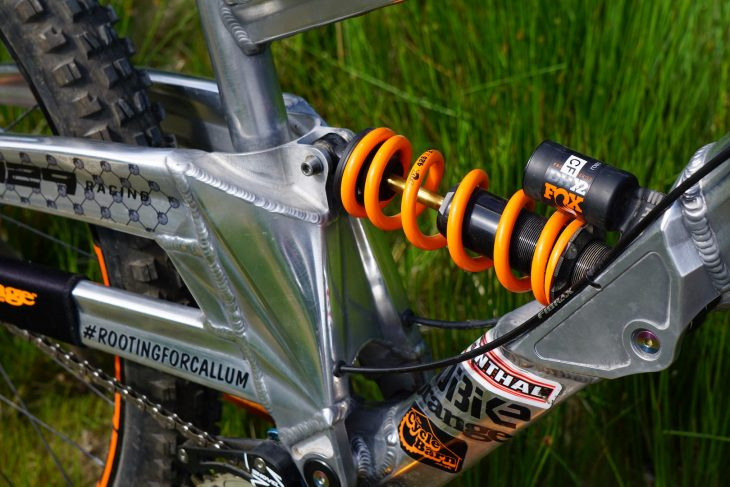 orange 329 downhill bike
