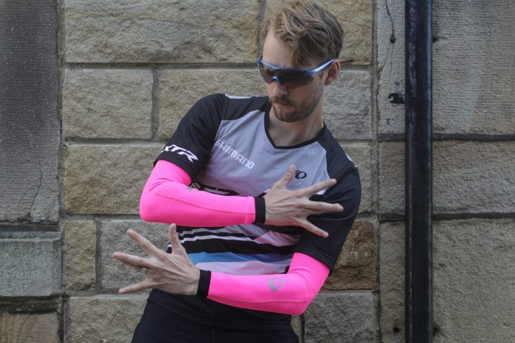pearl izumi thermal arm warmers pink wil