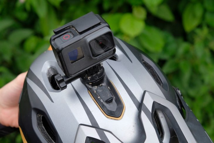 bell super dh helmet gopro camera