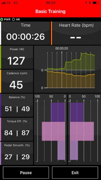 rotor q-ring chainring crankset power graph data metrics