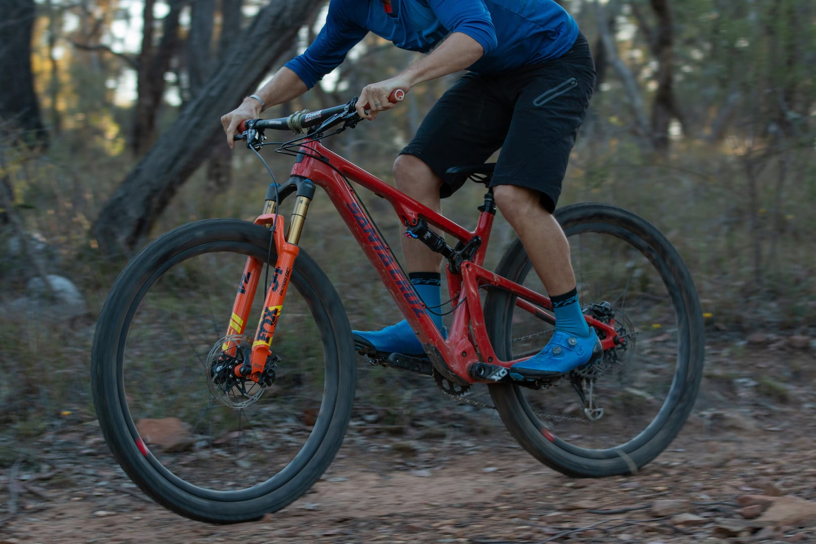 Review With A 120mm Fork The Santa Cruz Blur Is A Pocket