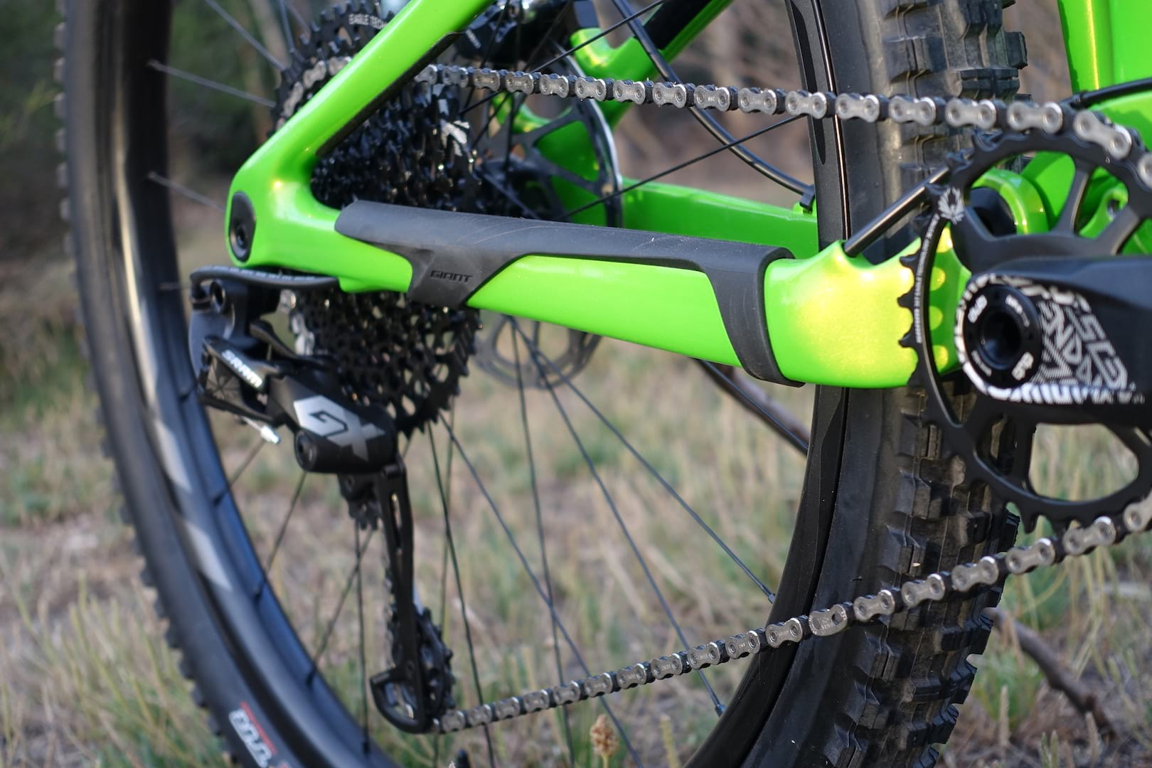 181039c8dd3 giant trance 29. The rear mech cable mounts through the chainstay to better  protect it from the chain and trail debris. ...