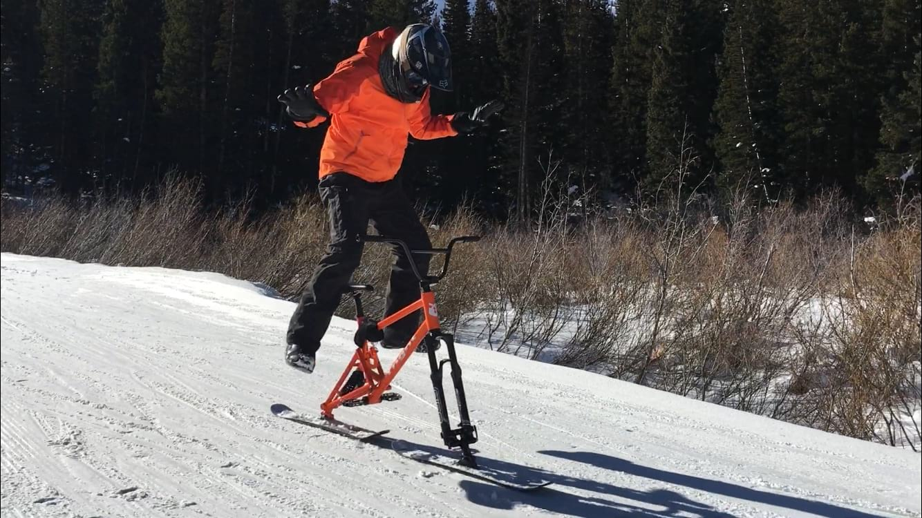 singletrack snow magazine ski bike
