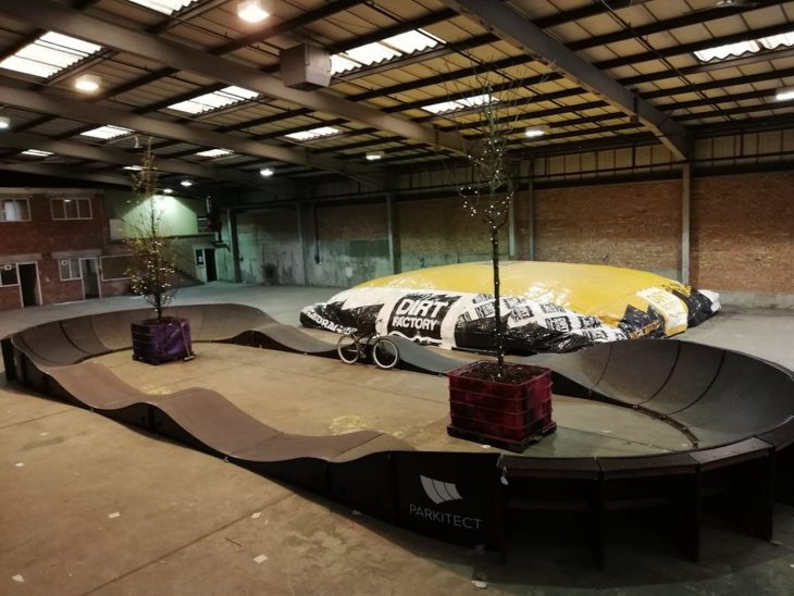 indoor pump track warehouse