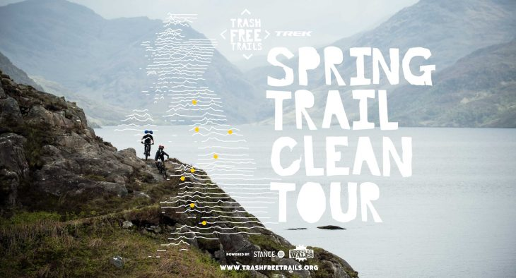 trash free trails uk spring clean tour