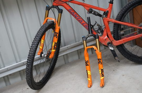 santa cruz blur fork offset fox 34 step-cast