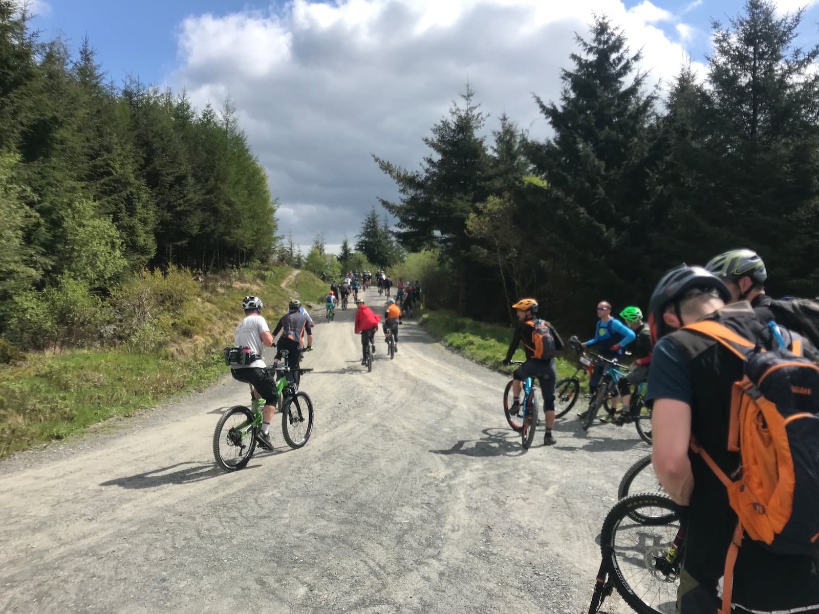 Dyfi enduro 2019 first climb