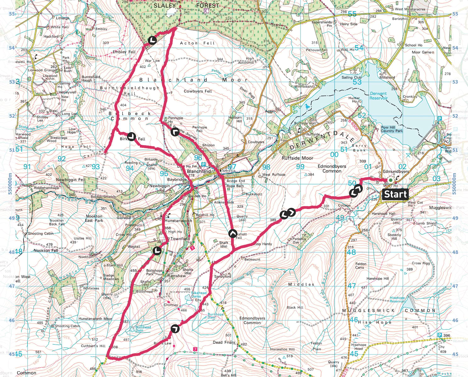 northumberland borders classic ride map os