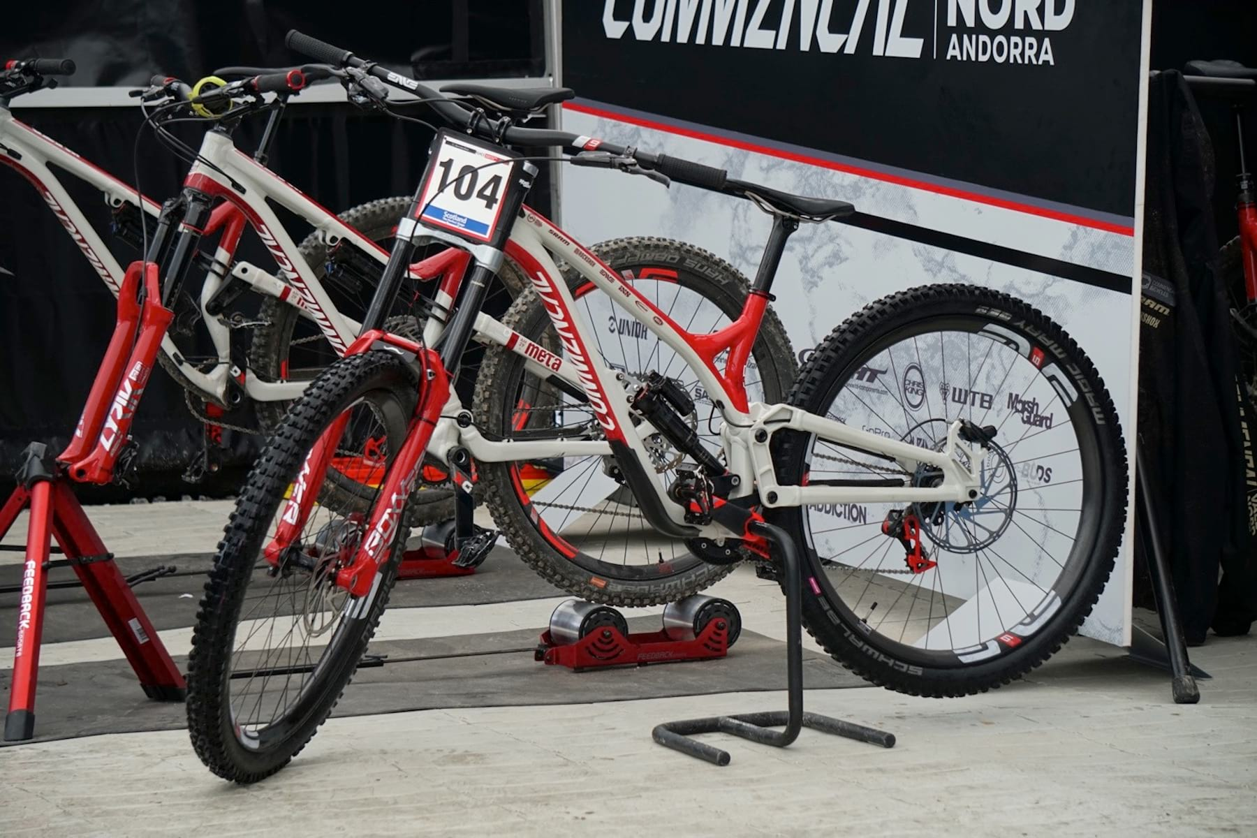 bf792601d54 2020 commencal supreme dh bike fort william Spot the difference.