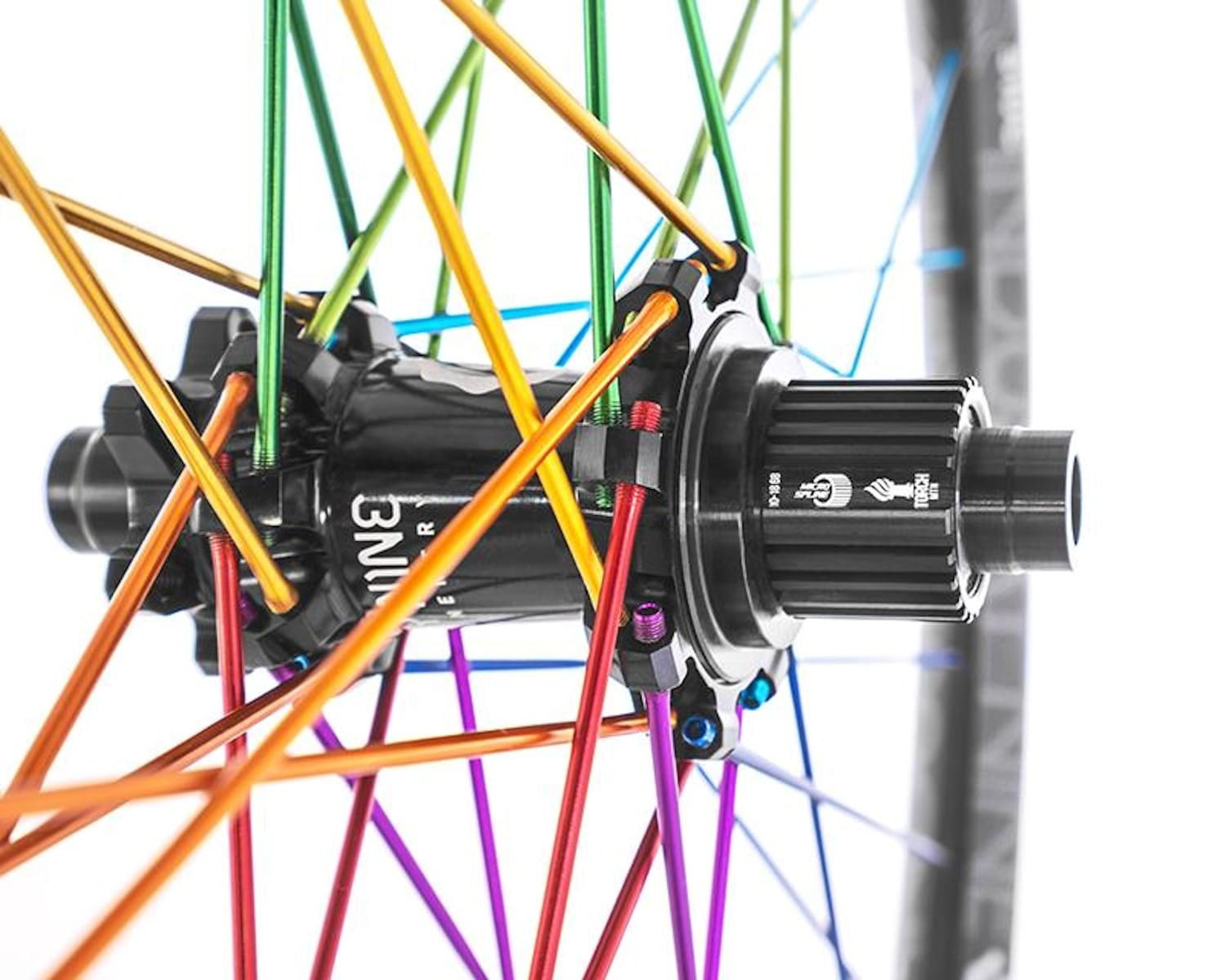 industry nine micro spline hub rainbow