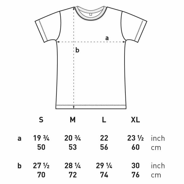 singletrack t-shirt size guide fitting