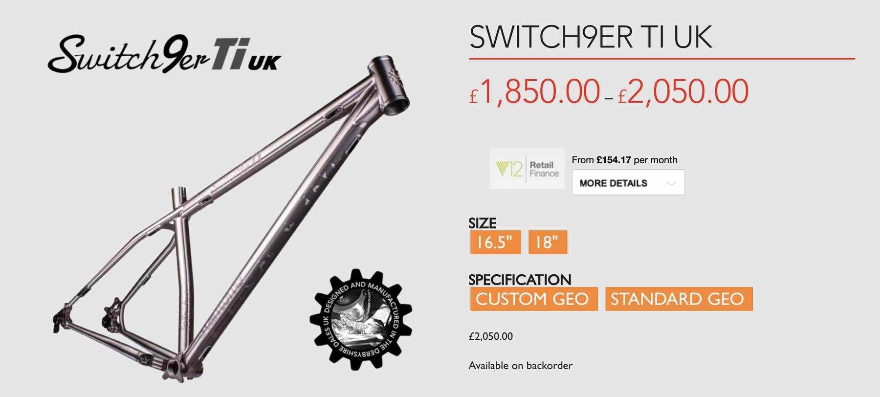 stanton bikes switch9er ti UK