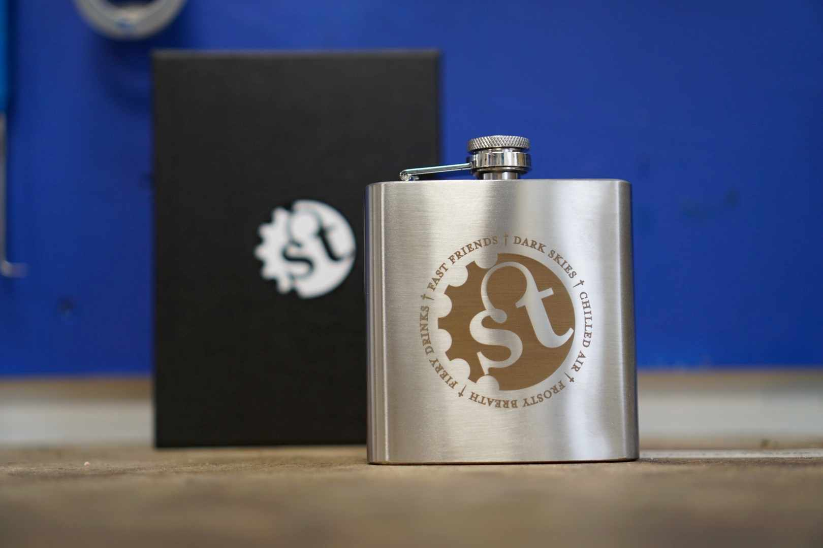 Singletrack Inspiration Hip Flask