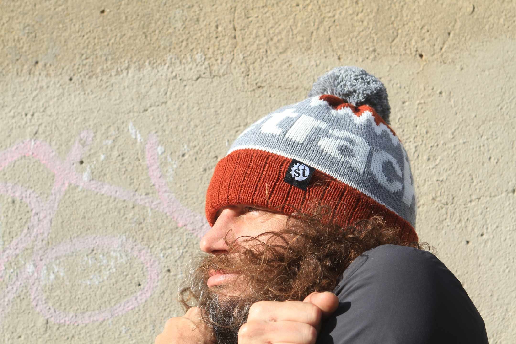 singletrack wooly bobble hat gift for mountain bikers what to get a cyclist for Xmas