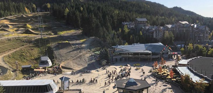 whistler bike park resort view from pan pacific hotel