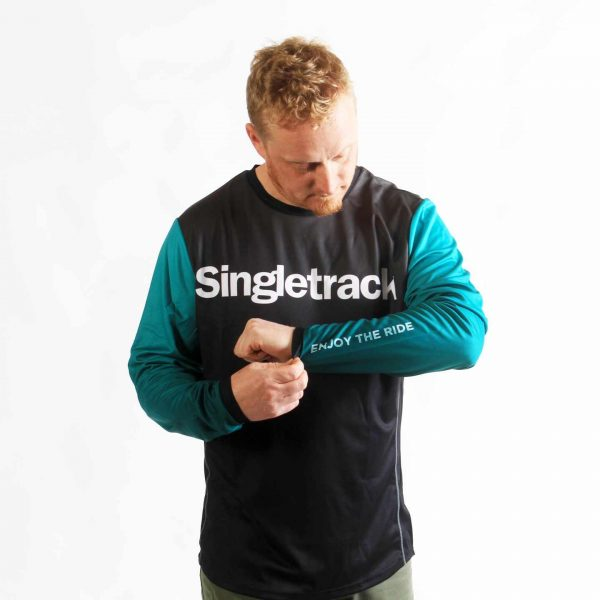 singletrack ride jersey 2020 green sleeve merch enjoy the ride