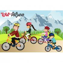 towwhee bike bungy cartoon
