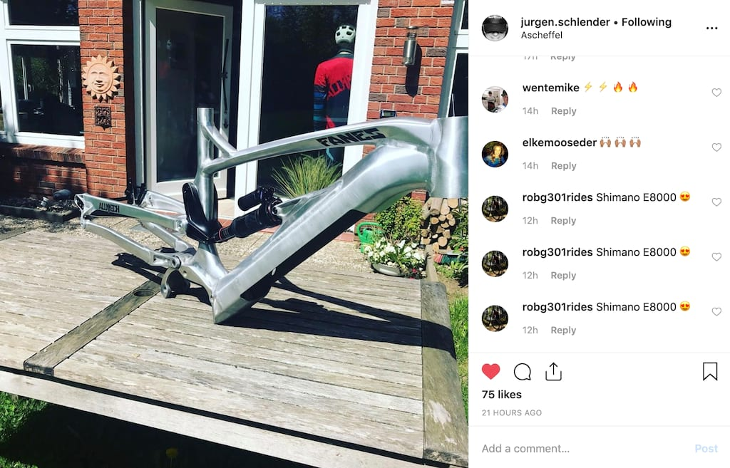 Alutech Cycles eFanes e-MTB prototype spotted in the wild