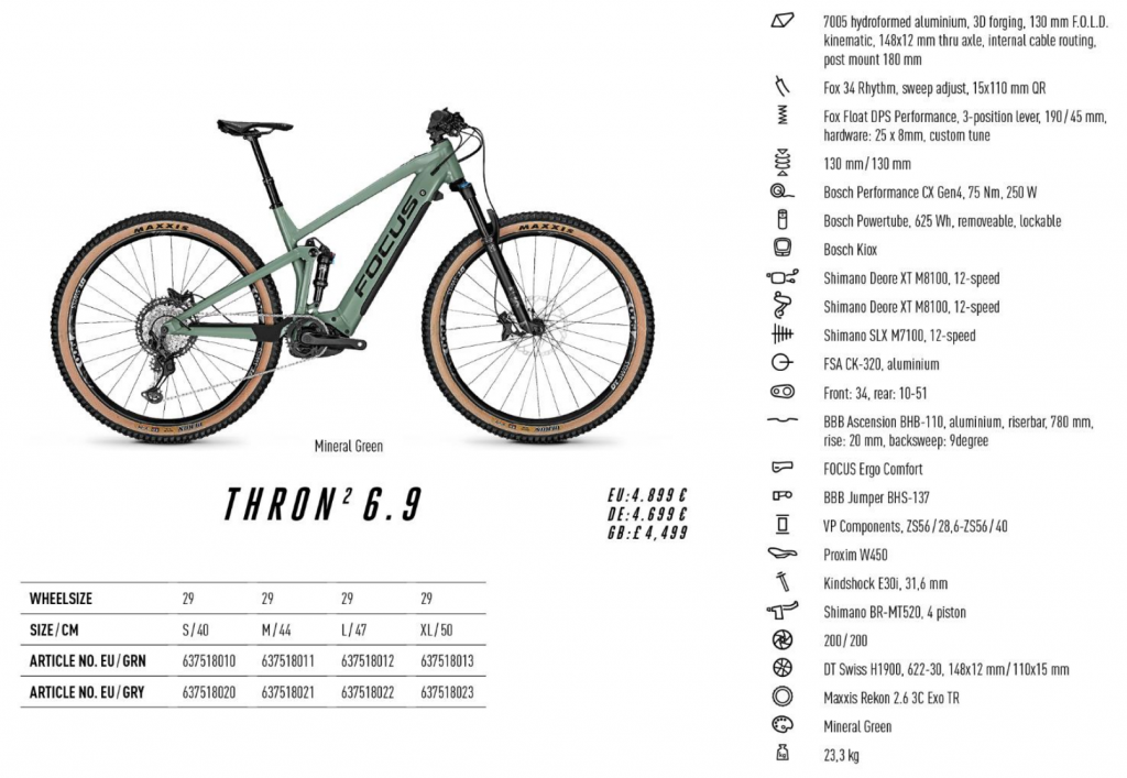 thron² thron focus 6.9 singletrack