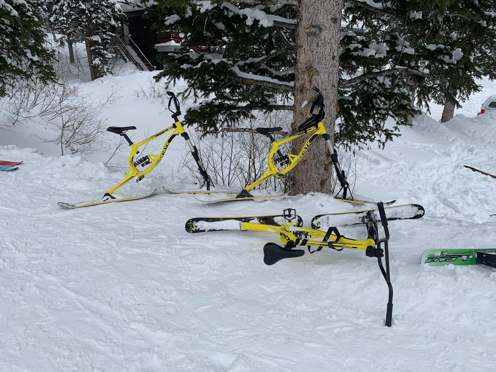 ski bike utah snow singletrack