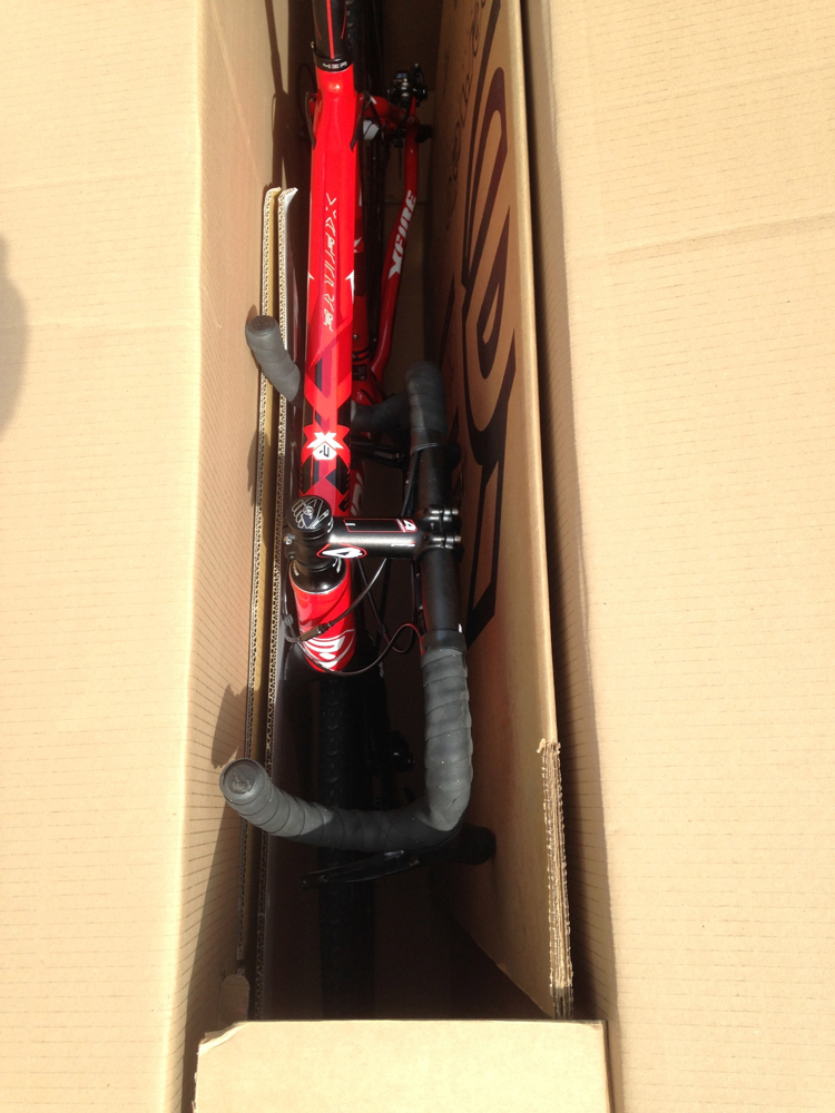 the Ridley X-Fire 10 disc gets delivered